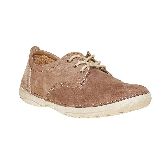 Chaussure lacée décontractée en cuir weinbrenner, Brun, 846-4657 - 13