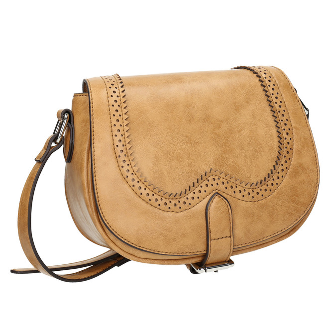 Sac Crossbody perforé bata, Brun, 961-3337 - 13