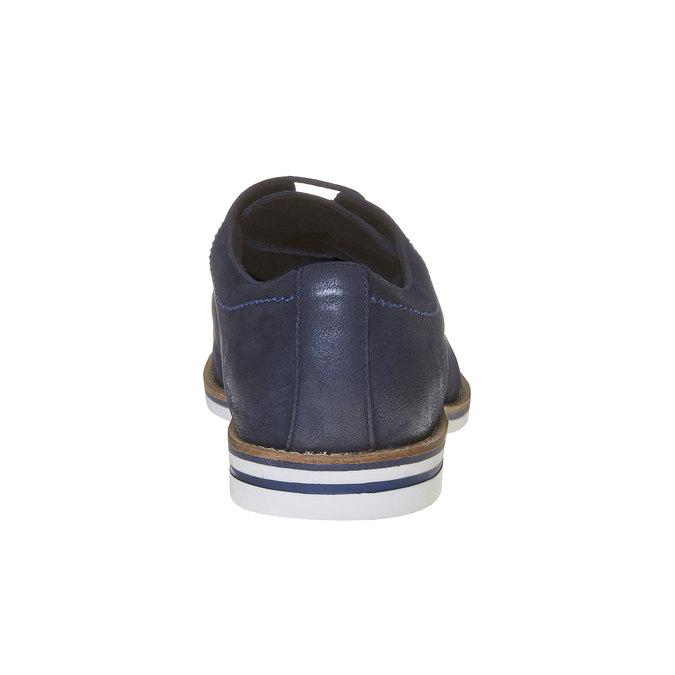 Chaussure lacée décontractée en cuir bata, Violet, 826-9642 - 17