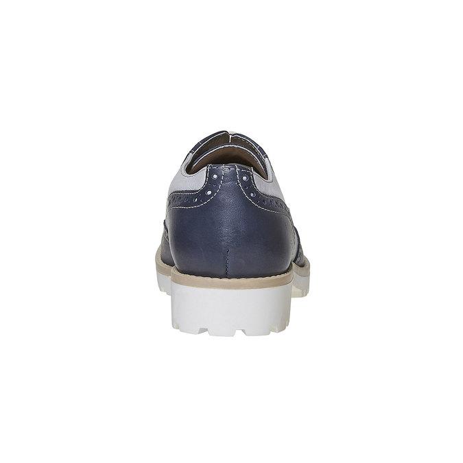 Chaussure Oxford en cuir pour femme bata, Violet, 524-9128 - 17