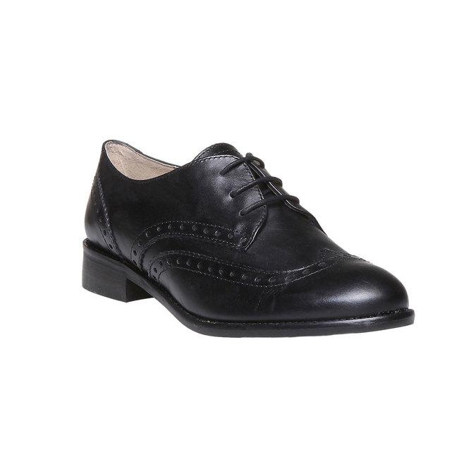 Chaussure lacée fantaisie en cuir pour femme bata, Noir, 524-6488 - 13
