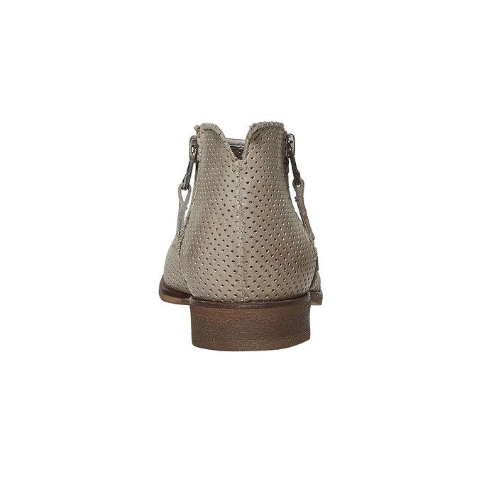 Bottine en cuir bata, Beige, 594-2400 - 17