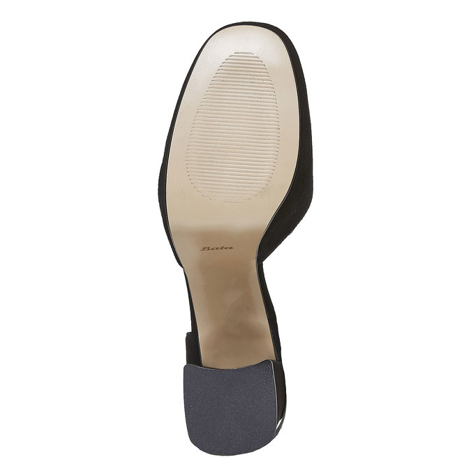 Escarpin à talon stable insolia, Noir, 723-6962 - 26