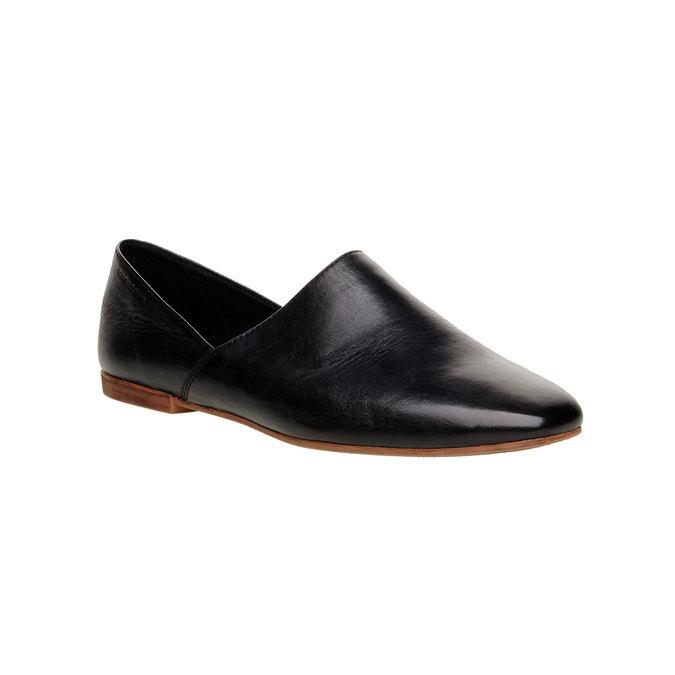 Slip on en cuir vagabond, Noir, 514-6100 - 13