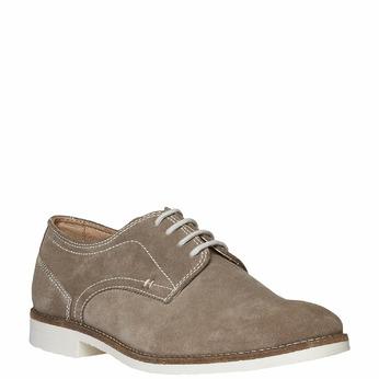 Chaussure lacée Derby en cuir bata, Jaune, 823-8558 - 13