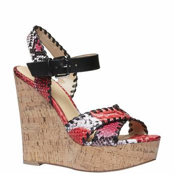 Sandale à plateforme pour femme bata, Rouge, 761-5527 - 13