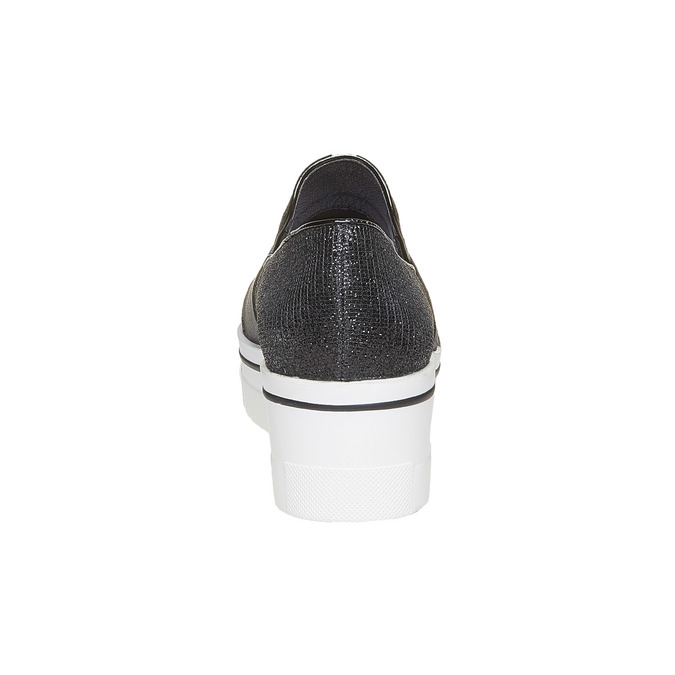Slip-on femme à Flatform north-star, Noir, 519-6141 - 17