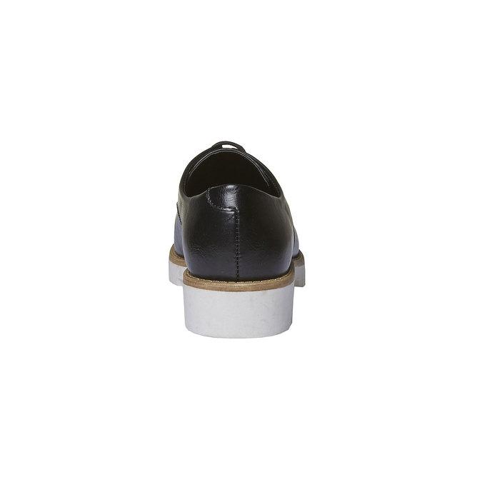 Chaussure basse à semelle épaisse bata, Noir, 521-6480 - 17