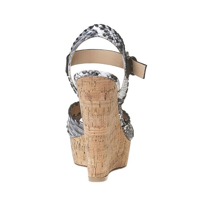 Sandale à plateforme bata, Noir, 761-6527 - 17
