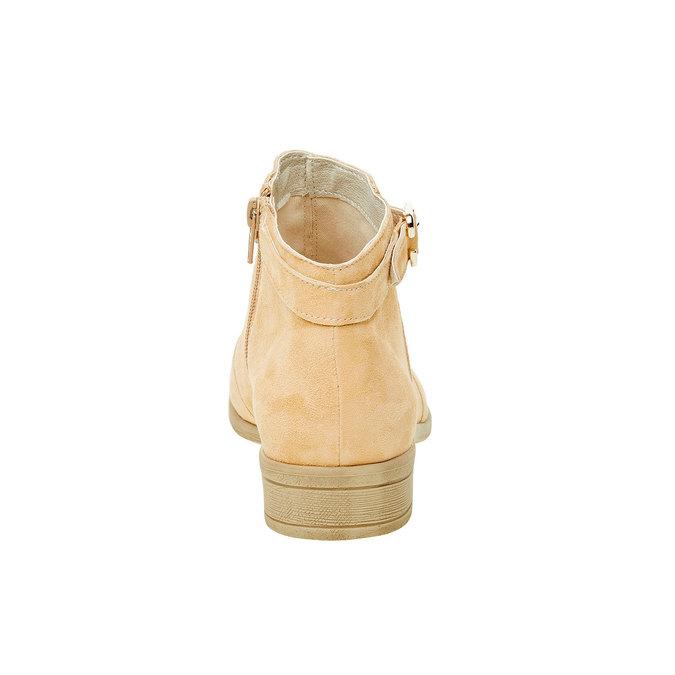 Bottine en cuir chamoisé bata, Jaune, 593-8402 - 17