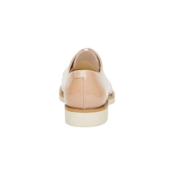 Chaussure lacée en cuir verni vagabond, Jaune, 528-8006 - 17