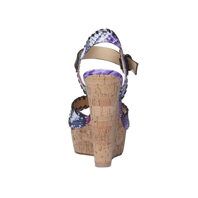 Sandale femme avec plateforme et bride bata, Violet, 761-9527 - 17
