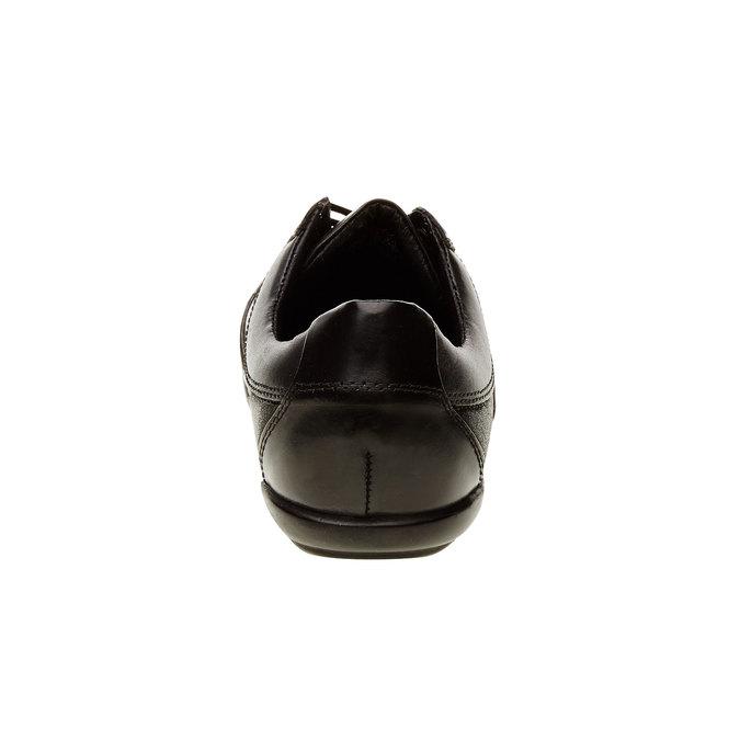 Basket décontractée en cuir levis, Noir, 844-6544 - 17