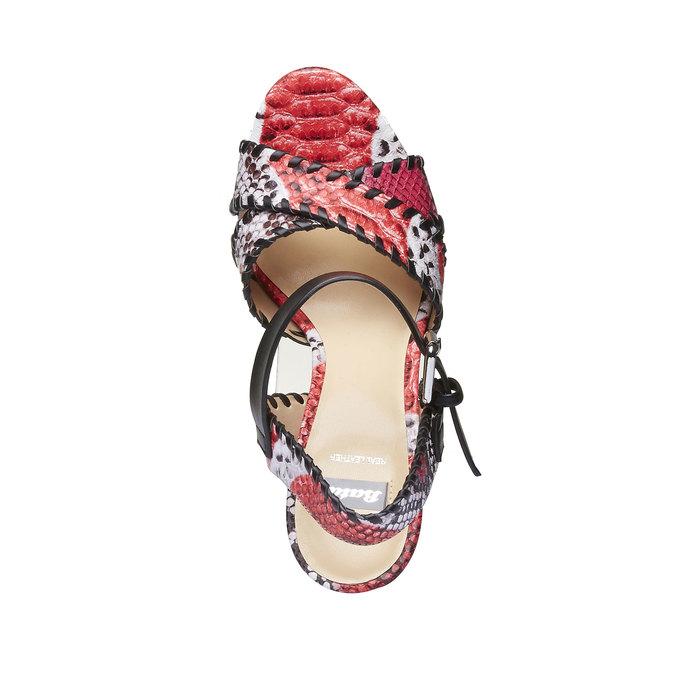 Sandale à plateforme pour femme bata, Rouge, 761-5527 - 19