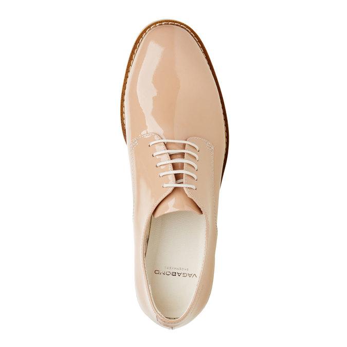 Chaussure lacée en cuir verni vagabond, Jaune, 528-8006 - 19