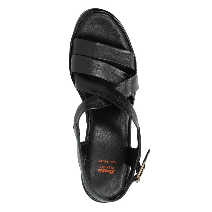 Sandale en cuir femme flexible, Noir, 764-6538 - 19