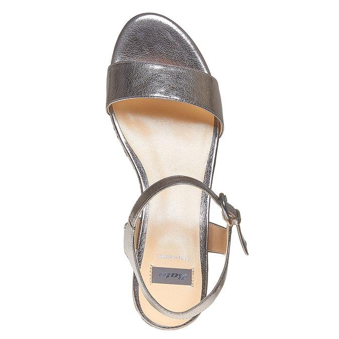Sandale métallisée à plateforme bata, Blanc, 761-1530 - 19
