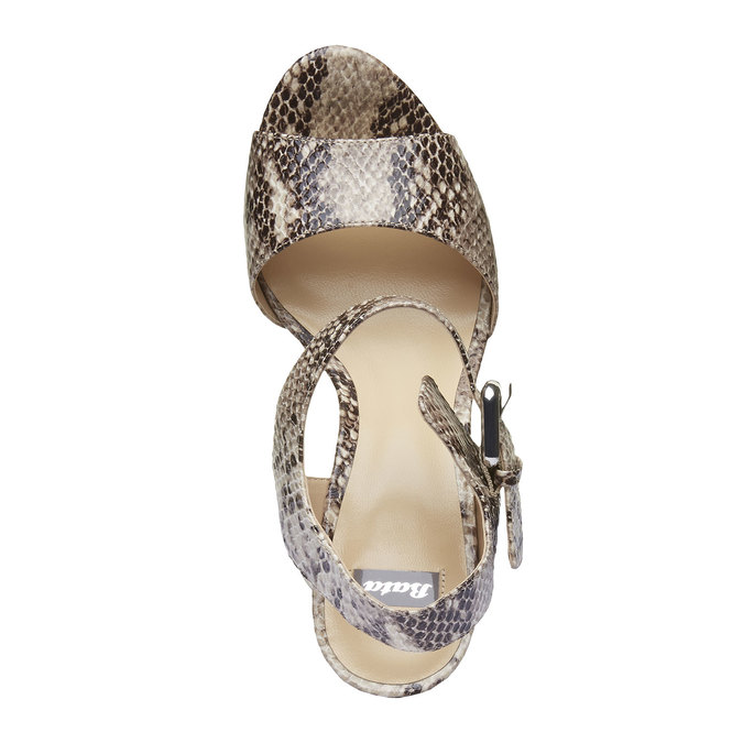 Sandale à plateforme pour femme bata, Jaune, 761-8533 - 19