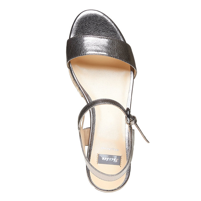 Sandale à plateforme bata, Blanc, 761-1528 - 19