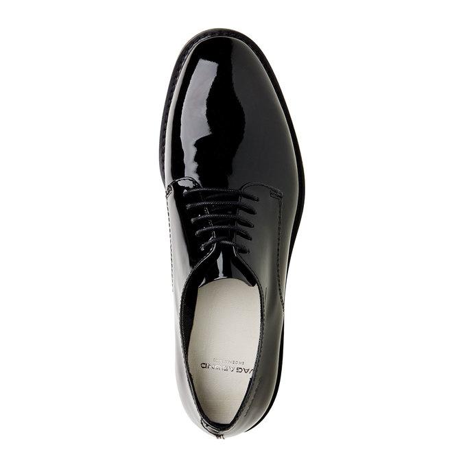 Chaussure lacée en cuir verni vagabond, Noir, 528-6006 - 19
