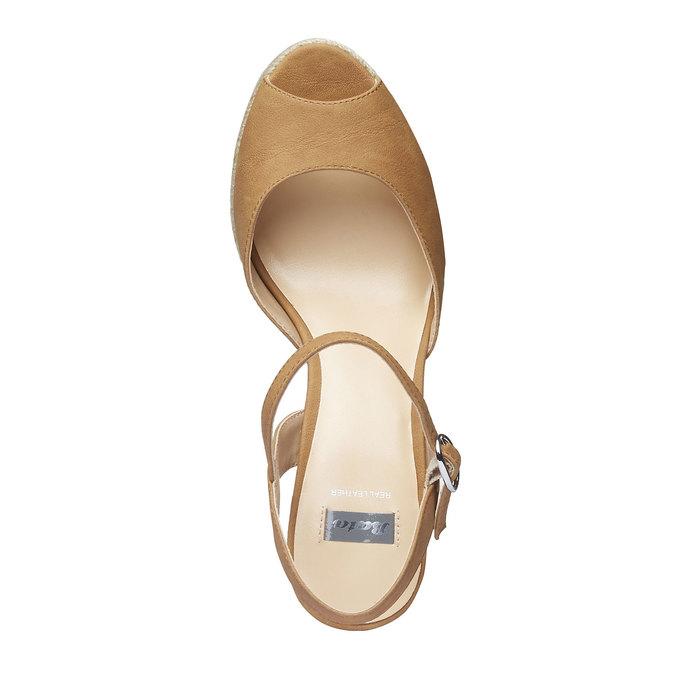Chaussure à plateforme femme bata, Brun, 761-4520 - 19