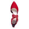 Escarpin en cuir rouge avec lanières sur l'empeigne bata, Rouge, 724-5369 - 19