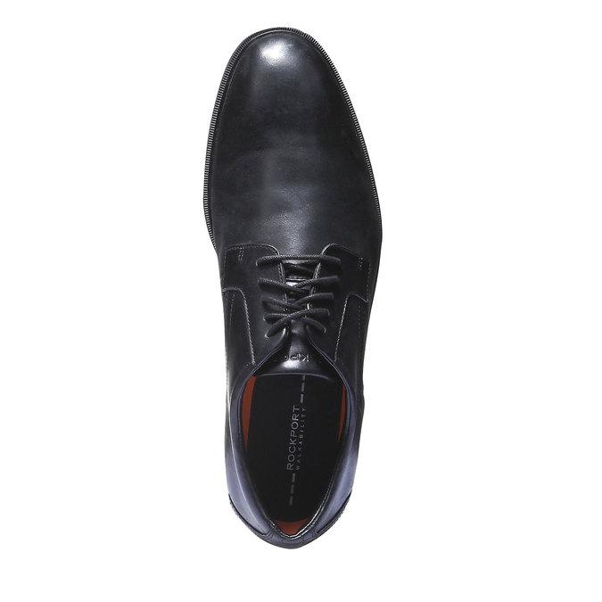 Chaussures lacées en cuir pour homme rockport, Noir, 824-6489 - 19