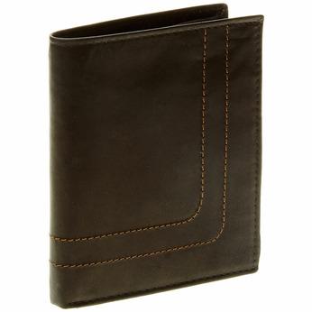 Porte-monnaie en cuir surpiqué bata, Noir, 944-6148 - 13