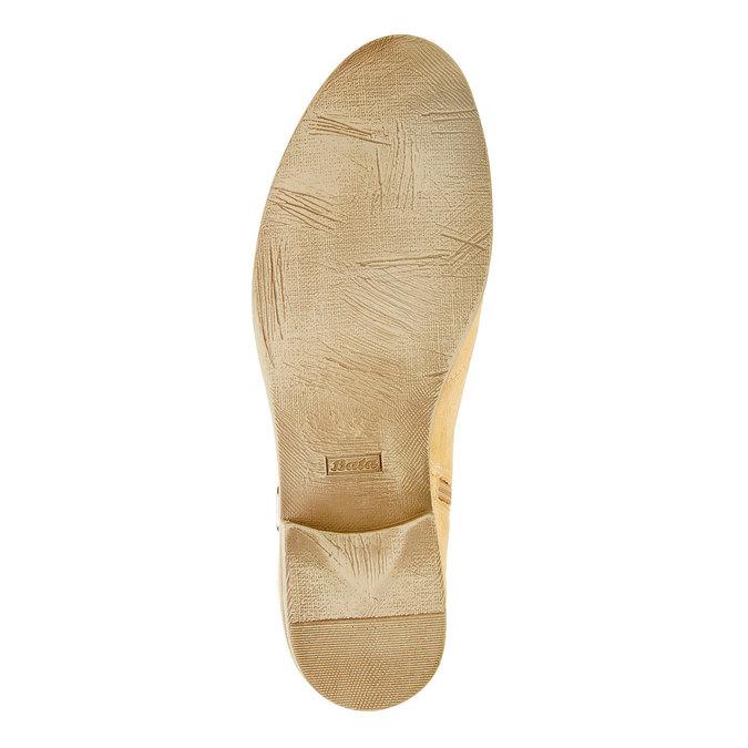 Bottine en cuir chamoisé bata, Jaune, 593-8402 - 26