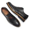 Chaussure lacée en cuir à semelle épaisse bata-the-shoemaker, Noir, 824-6190 - 19