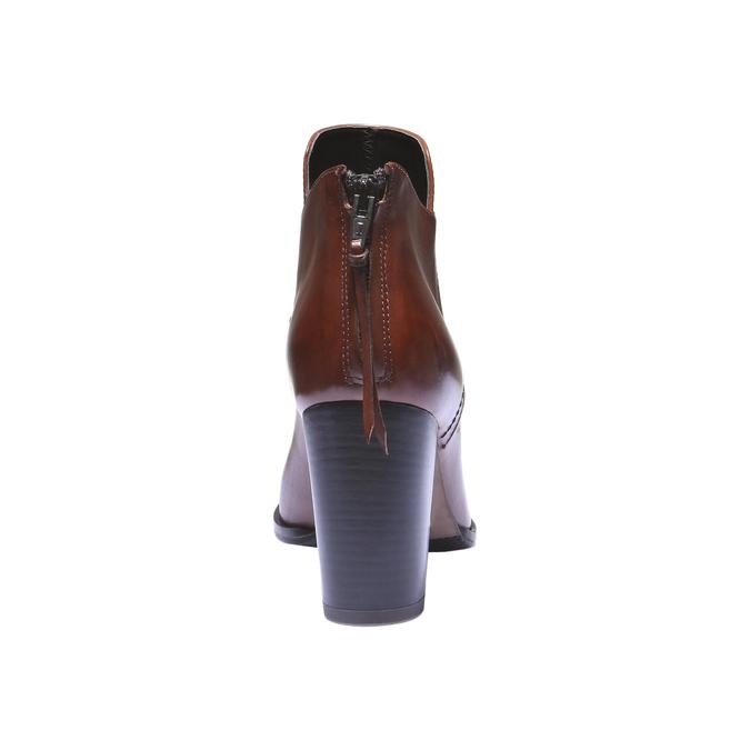 Bottines en cuir bata, Brun, 794-3576 - 17