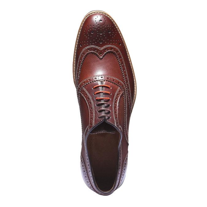 Chaussures en cuir Oxford à semelle contrastée shoemaker, Brun, 824-4132 - 19