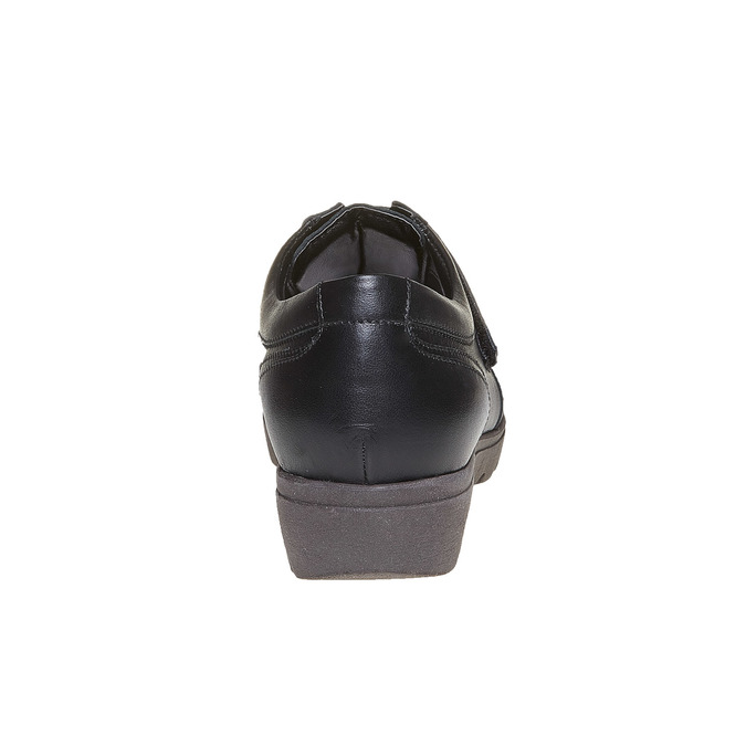 Chaussure femme en cuir avec boucles sundrops, Noir, 524-6357 - 17