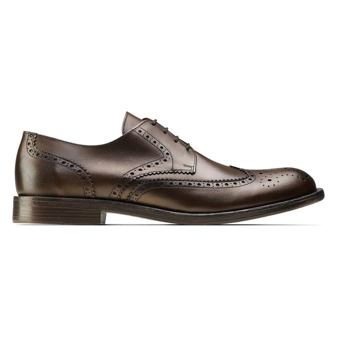 Chaussure lacée en cuir pour homme style Derby bata, Brun, 824-4429 - 26