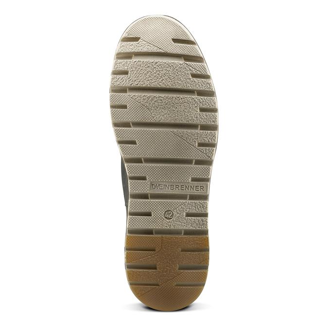 Chaussures lacées en cuir weinbrenner, Bleu, 896-9340 - 17