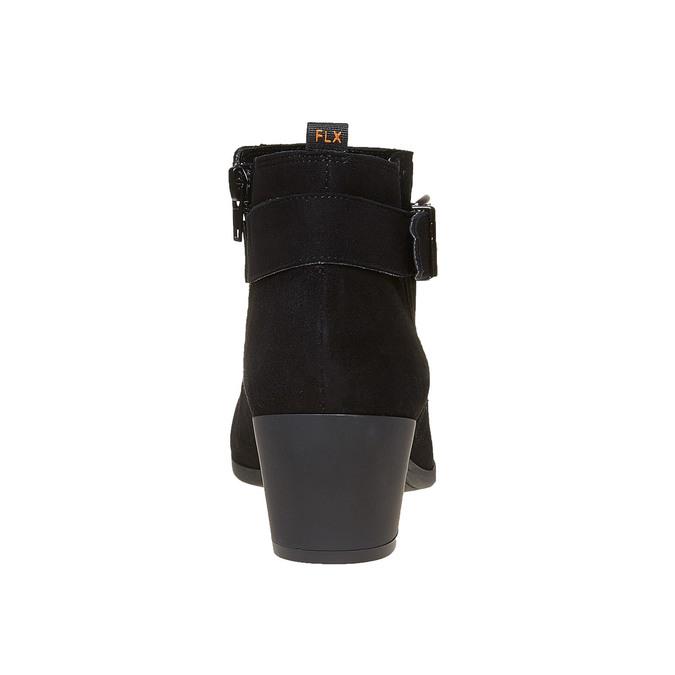 Bottine en cuir pour femme à boucle flexible, Noir, 693-6344 - 17