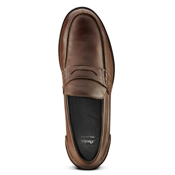 Loafer en cuir homme bata, Brun, 814-4128 - 15