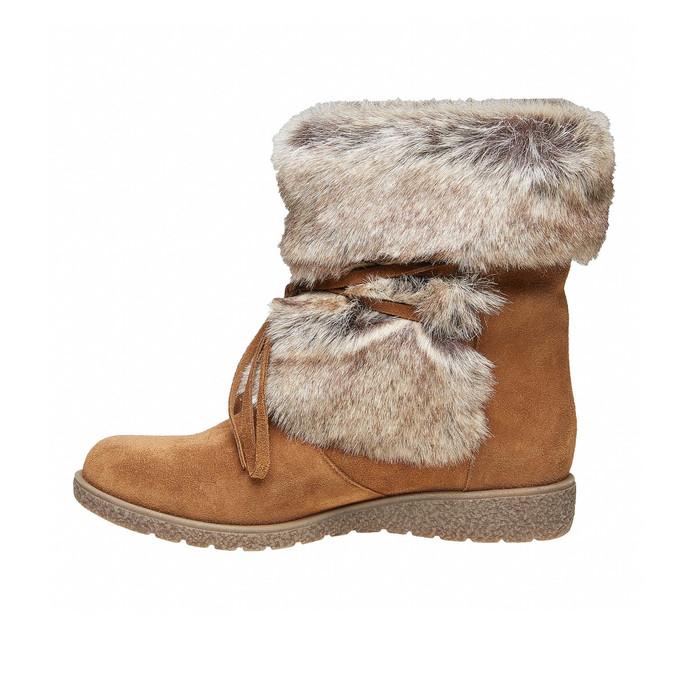 Chaussure d'hiver pour femme bata, Brun, 593-3992 - 19