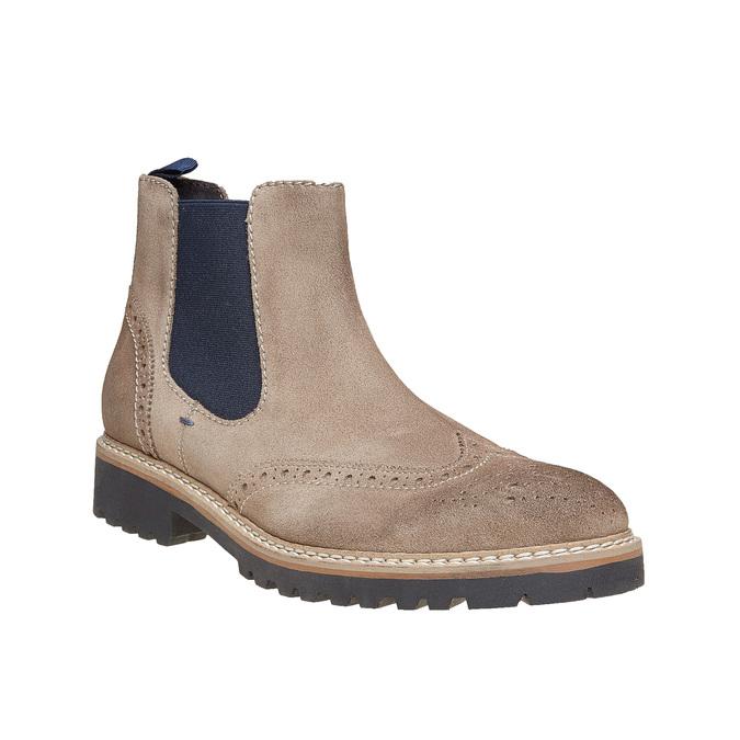 Chaussures en daim Chelsea bata, Brun, 893-2373 - 13