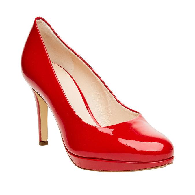 Escarpin en cuir rouge hogl, Rouge, 728-5002 - 13