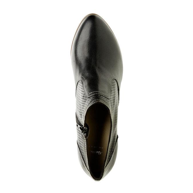 Chaussure en cuir à talon bata, Noir, 724-6932 - 19