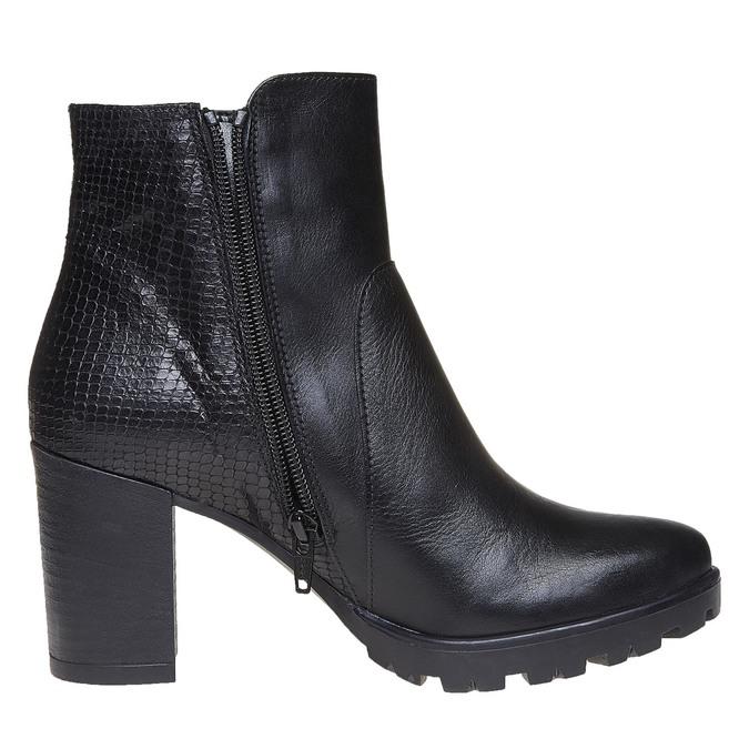 Chaussure en cuir pour femme bata, Noir, 794-6528 - 19