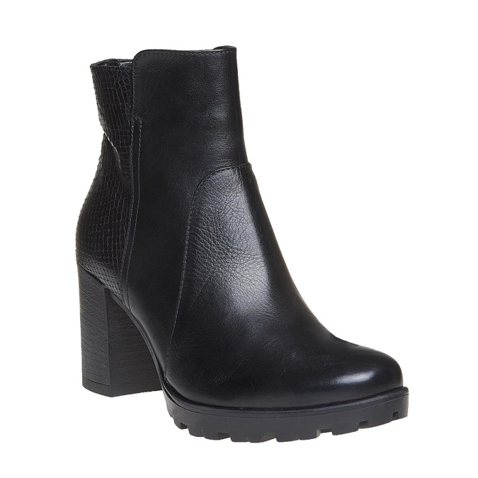 Chaussure en cuir pour femme bata, Noir, 794-6528 - 13