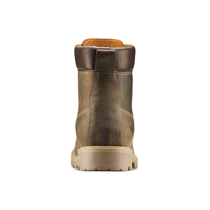 Chaussures en cuir à semelle tracteur weinbrenner, Brun, 894-4820 - 16