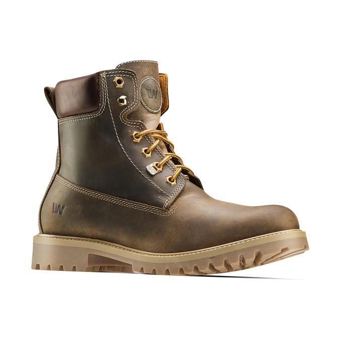 Chaussures en cuir à semelle tracteur weinbrenner, Brun, 894-4820 - 13