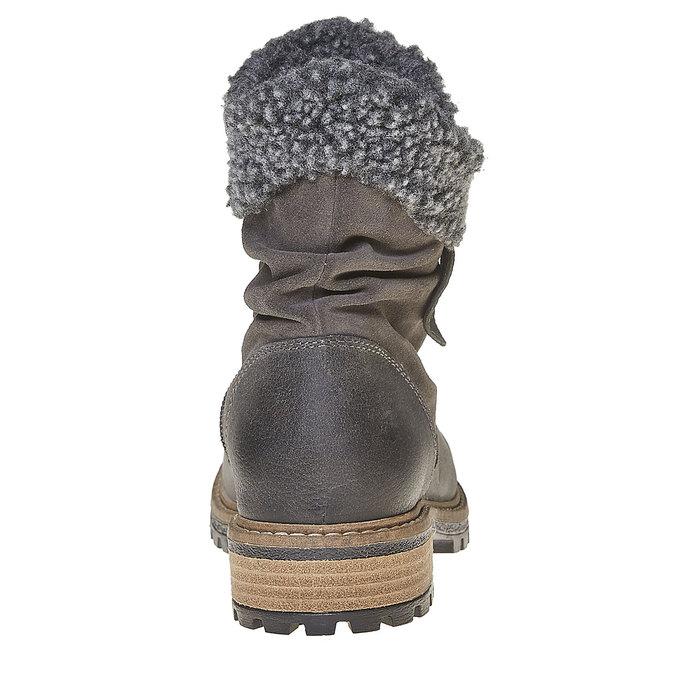 Botte en cuir pour enfant mini-b, Gris, 394-2315 - 17