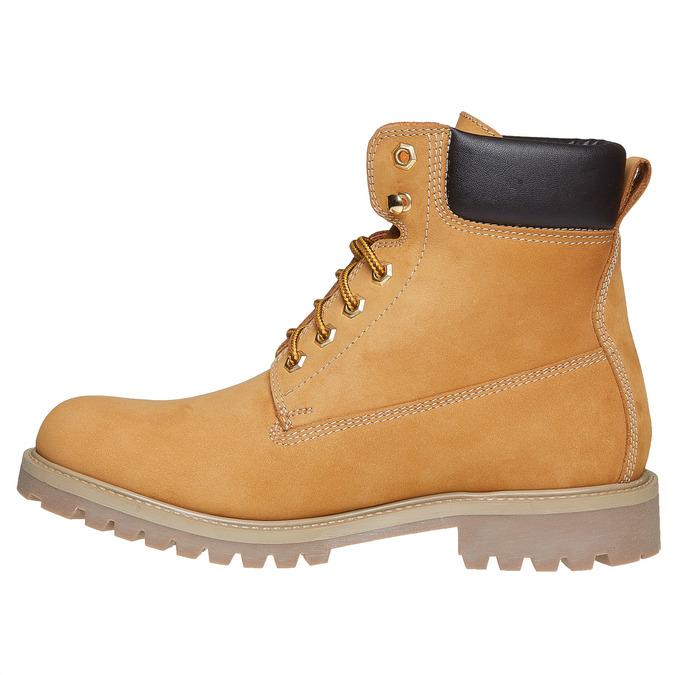 Chaussures en cuir à semelle tracteur weinbrenner, Brun, 896-8820 - 19