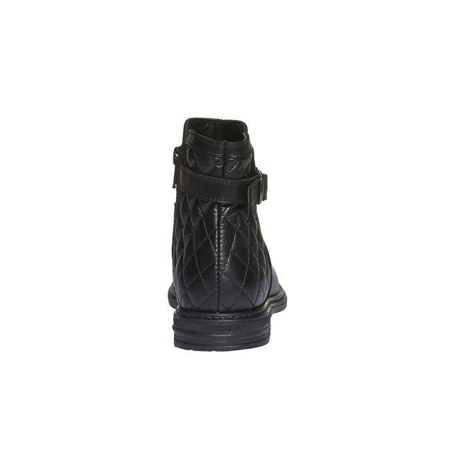 Bottine en cuir surpiquée mini-b, Noir, 394-6233 - 17