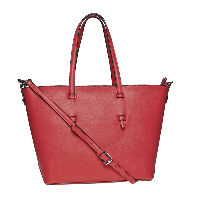 Sac à main avec perforations bata, Rouge, 961-5276 - 26