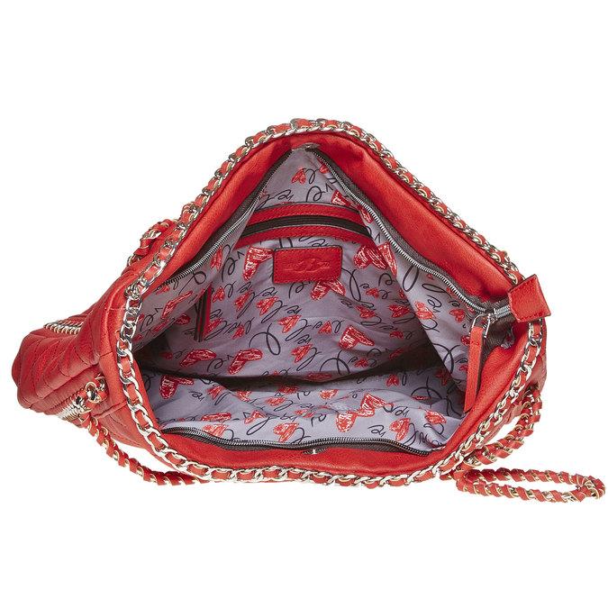 Sac à main femme rouge avec chaîne bata, Rouge, 961-5393 - 15